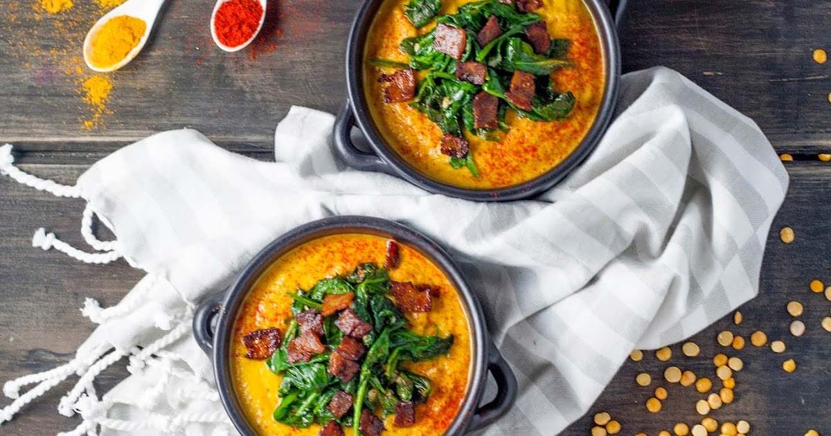 tasse d'amour: Smoked Paprika Split Pea Soup with Wilted Spinach and ...