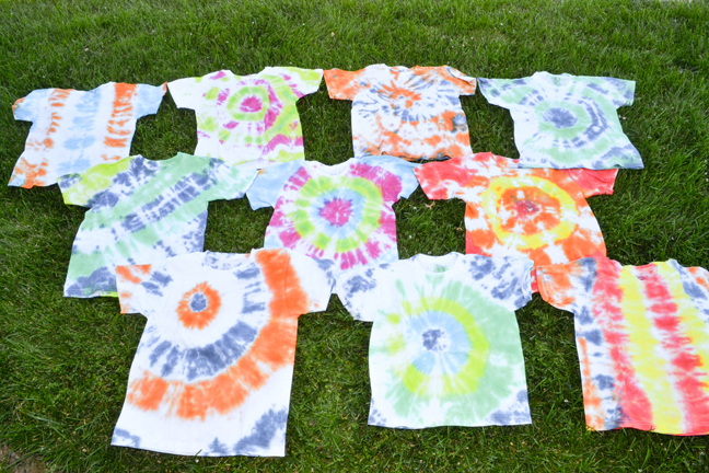 Tie dye t-shirts to benefit St. Jude