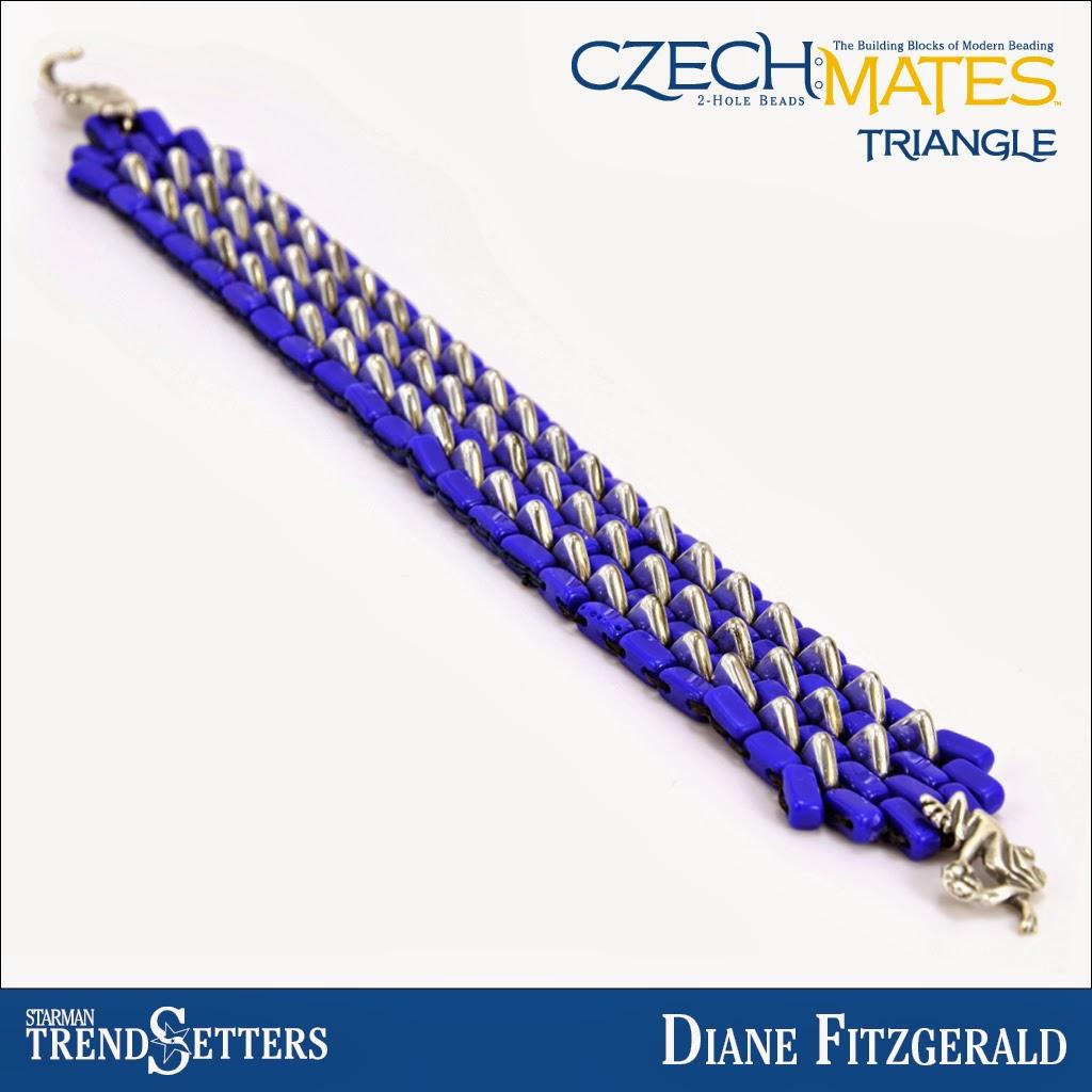 CzechMates Triangle bracelet by Starman TrendSetter Diane Fitzgerald