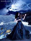Dama gótica con violín