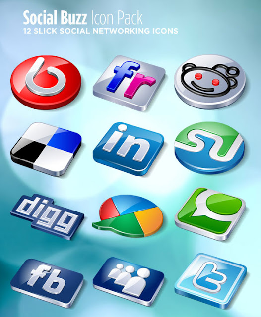 social buzz icon pack 12 Slick Social Networking Icons