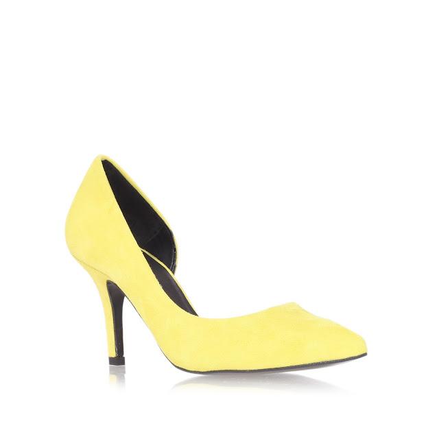 yellow Kurt Geiger heels