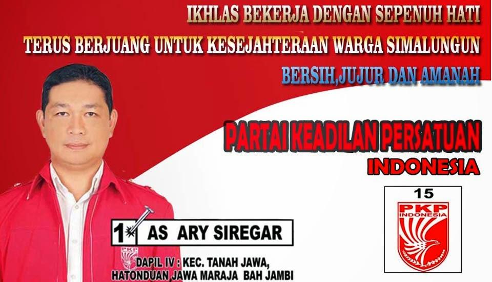 AS ARY SIREGAR -- DAPIL IV : KEC.TANAH JAWA,HATONDUAN, JAWA MARAJA BAH JAMBI  --  PKP INDONESIA