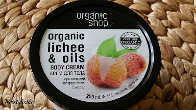 Organic Shop, natural body cream with lychee, natural cosmetics, exotic cream