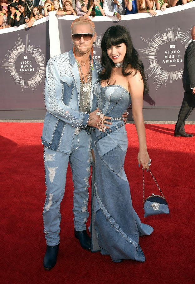 Katty perry looks sexy on mtv vmas 2014 denim clothes