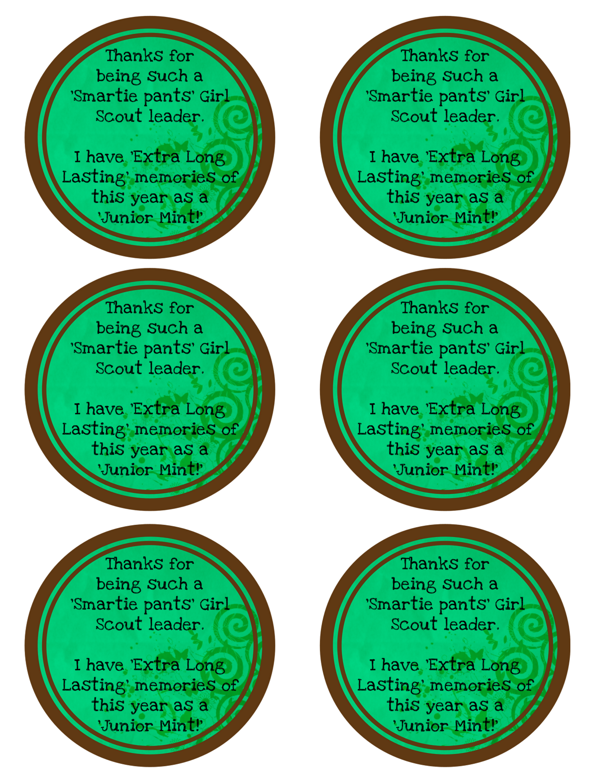 Teacher And Girl Scout Leader Gifts Free Printable The