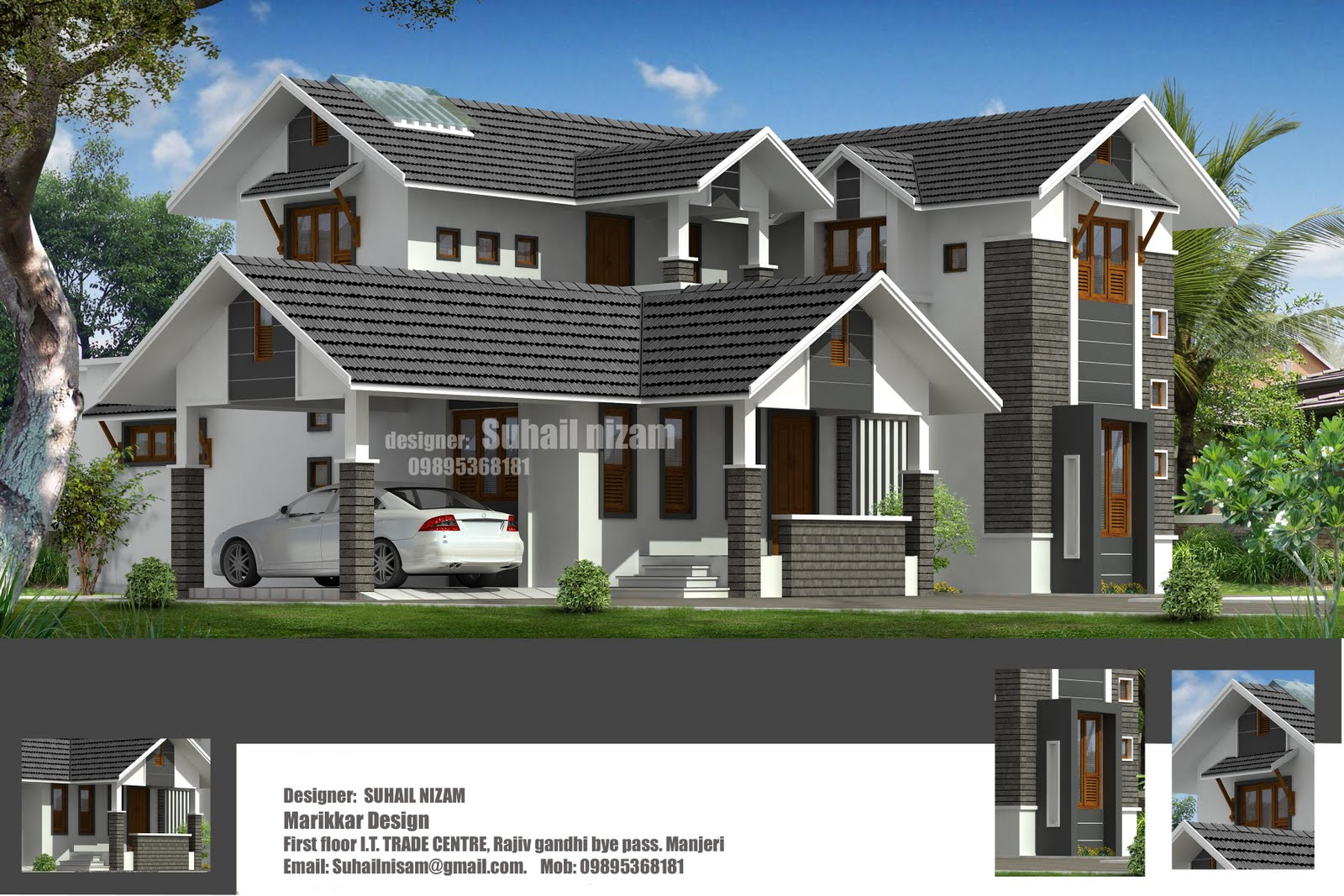 Plan+and+elevation+of+2678+sqft+Villa+residence+Designs+from+marikkar