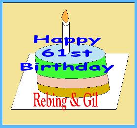 61st birthday cake