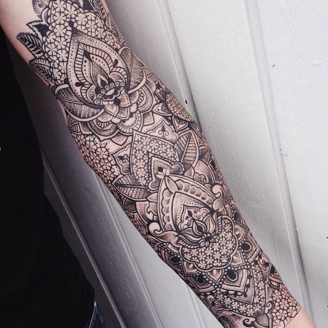 Flower patterns sleeve tattoo Tattoo Geek Ideas for best tattoos