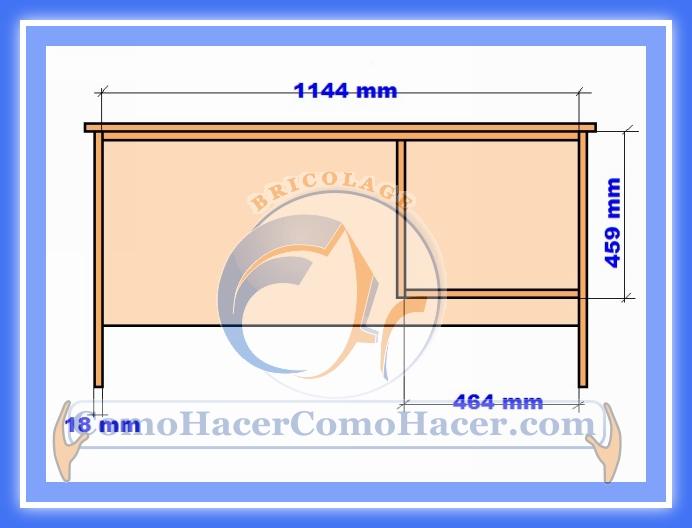 Plano de escritorio web del bricolaje dise o diy for Plano escritorio melamina