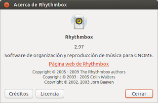 Sincronizar Rhythmbox en Ubuntu 12.10, codecs  Rhythmbox, usar Rhythmbox