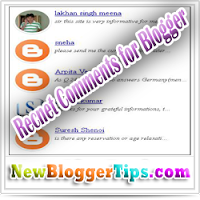 Add Recent Comments Widget with Rounded Images for Blogger