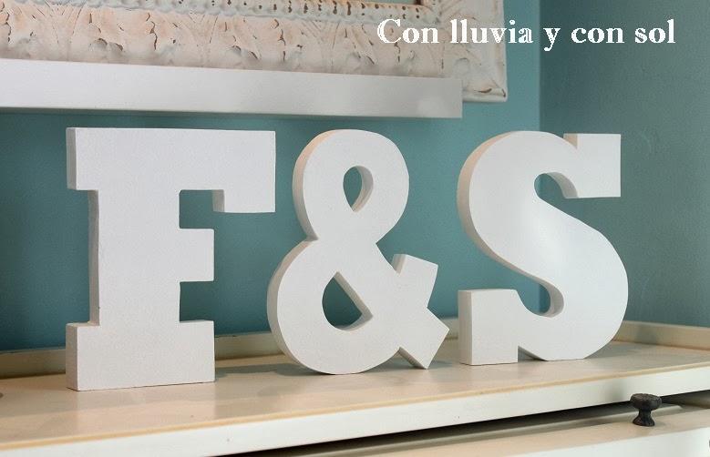 Con lluvia y con sol m s letras decorativas de madera - Letras para paredes infantiles ...