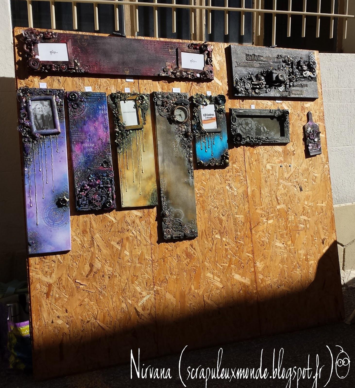 Javais Une Expo Dimanche Lexposition Dart Dans La Rue Graveson 13 Donc Jai Voulu Me Faire Un Petit Support Original Pour Mes Cartes De Visite