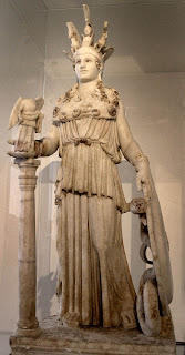 la obra de fidias. Atenea Varbakeion. Grecia antigua. Escultor griego. Escultores griegos antiguos. Escultor griego famoso.