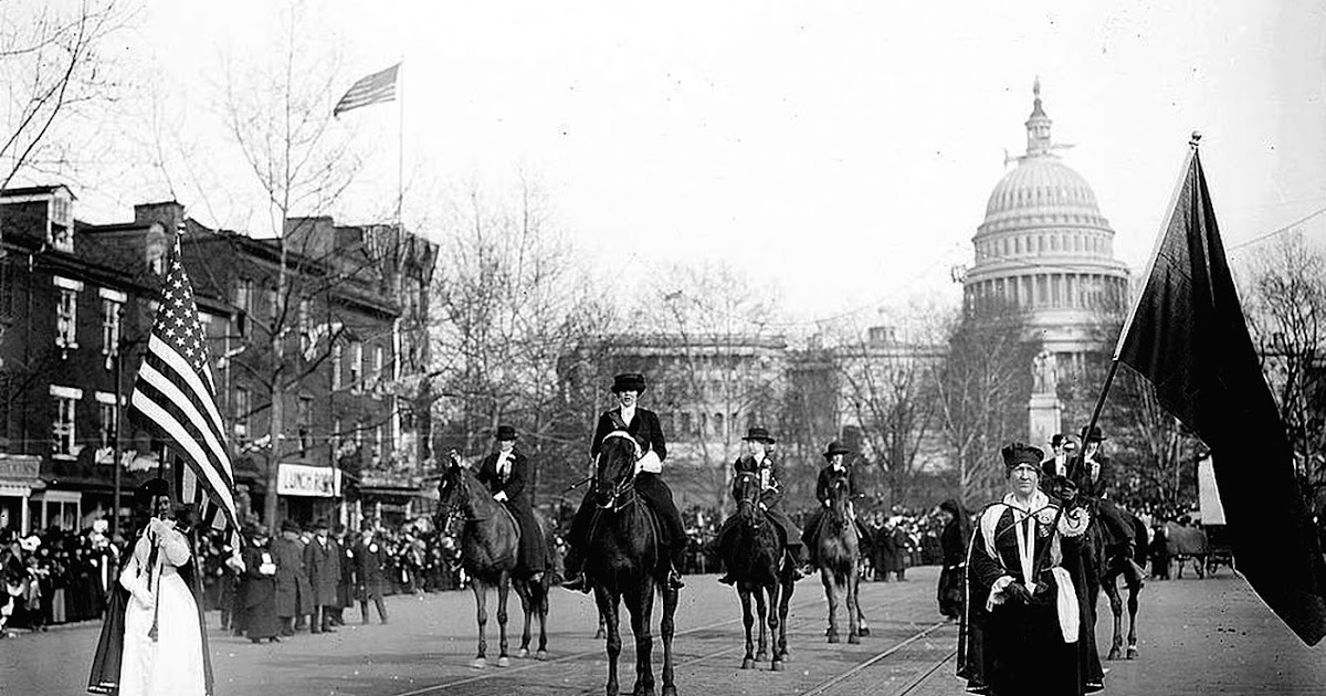 women u0026 39 s history month  suffrage parade public domain clip