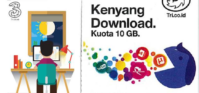 Paket internet kuota kenyang download