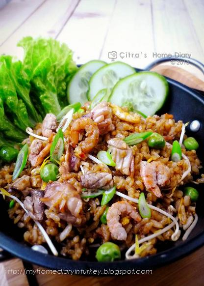 Citra's Home Diary: Nasi Goreng Seafood (Indonesian style