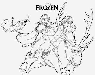 Gambar frozen untuk diwarnai