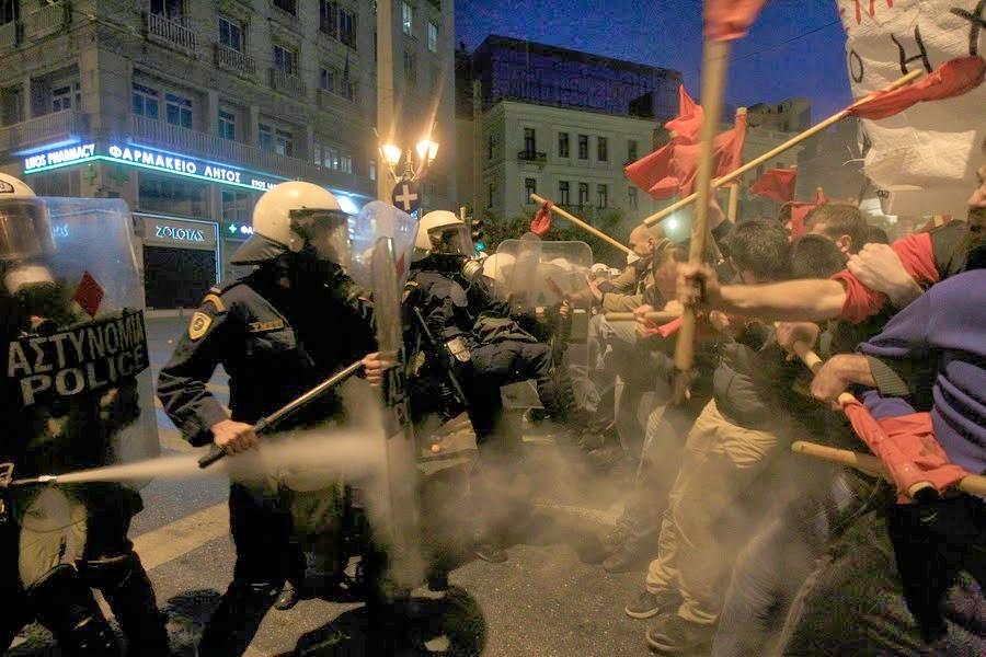 1/4/2014 Απαγορευμένη πορεία ενάντια στο ecofin