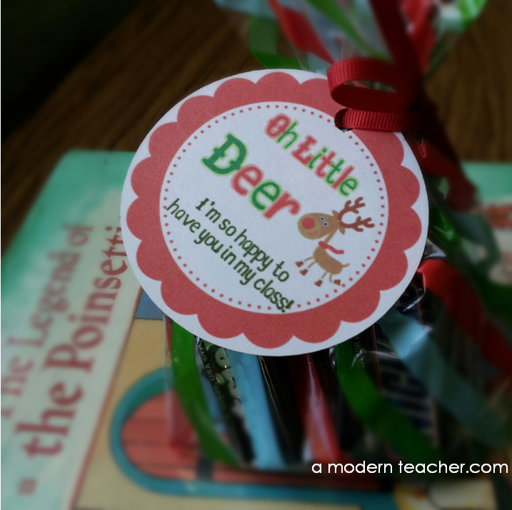 DIY: Reindeer Gift Tag :: A Modern Teacher