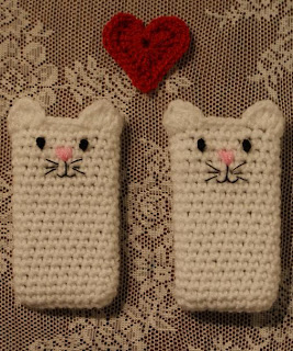 crochet phone case cat