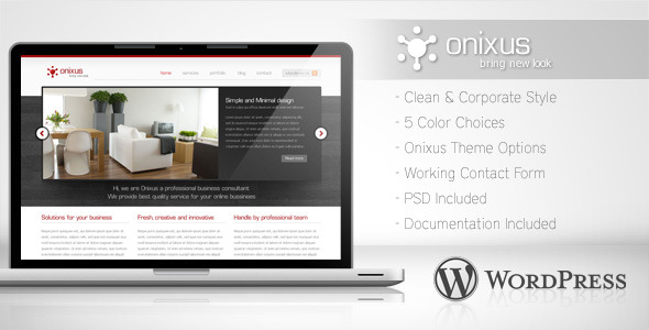 Image for Onixus – Corporate Business Theme by ThemeForest