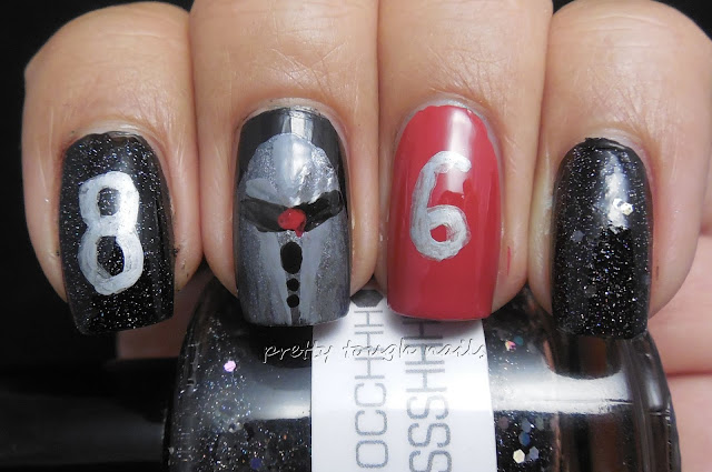 Polish Days Sci Fi:  Battlestar Galactica Cyclons with Illamasqua and Nerdlacquer