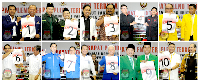 Inilah daftar nomor urut Parpol Peserta Pemilu 2014 :