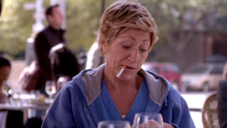Edie Falco Smoking Cigarettes