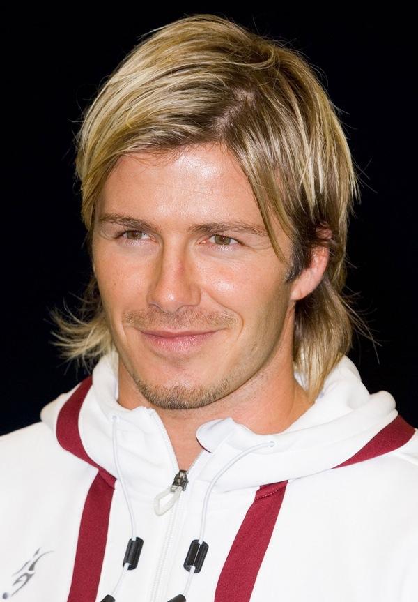 Extream Fashion: David Beckham Long Hair Adidas Shoes High Tops Red