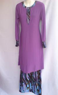 Model dan contoh baju gamis wanita khas melayu
