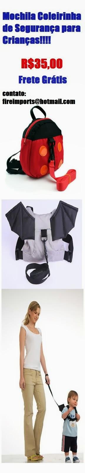 mochilinha de segurança