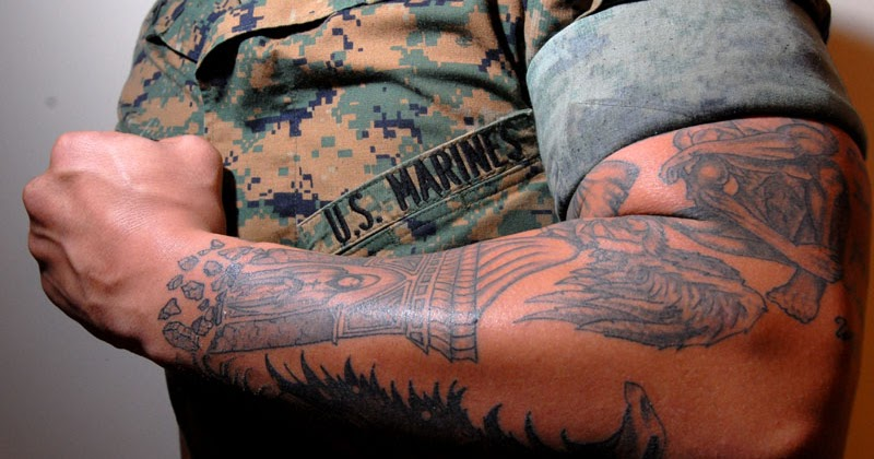 Once a marine always a marine tattoo