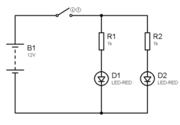 LEDS en paralelo con resistencias individuales