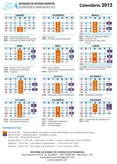 Calendário Oficial 2013