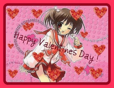 Anime Greeting Cards Anime Girl Happy Valentines Day