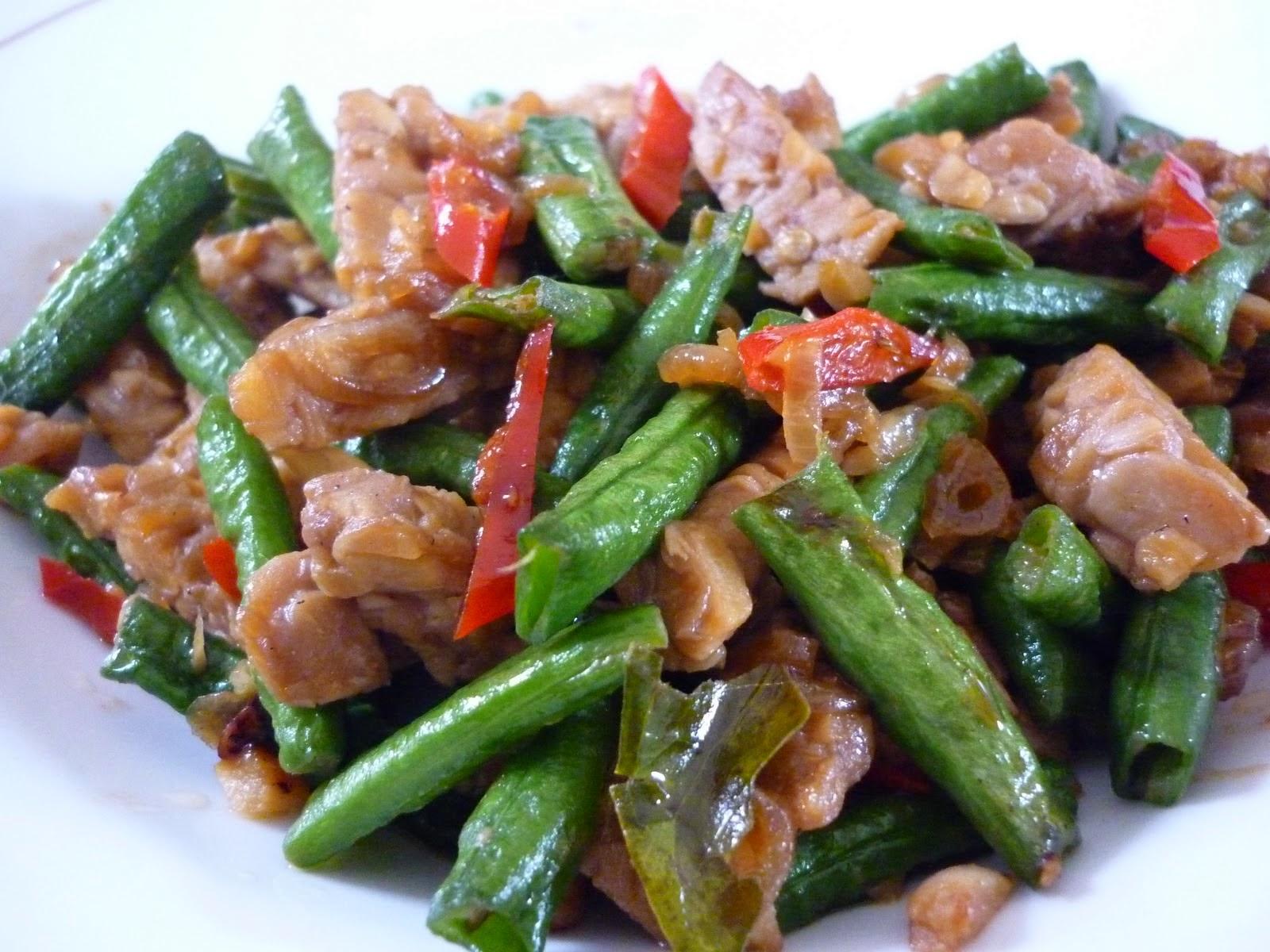 Resep masakan tumis kacang panjang dan tempe