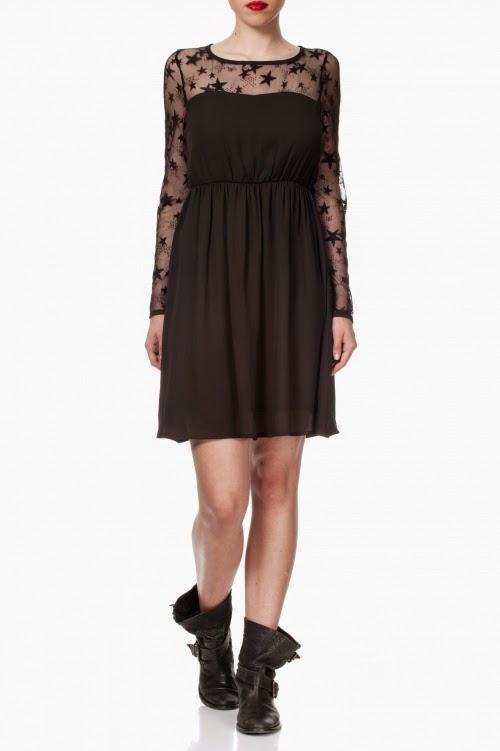 Vestido fluido negro