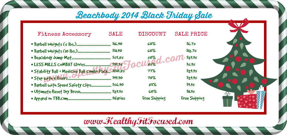 Beachbody 2014 Black Friday Sale, www.HealthyFitFocused.com