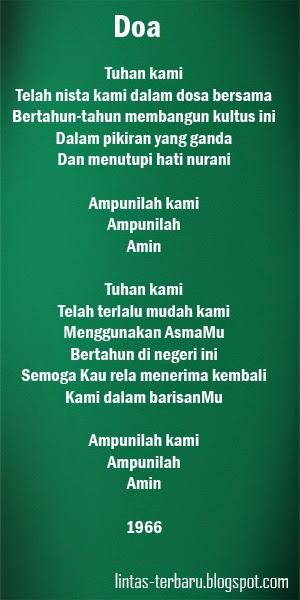 Kumpulan Puisi Taufiq Ismail Lengkap Terbaik   Caption ...