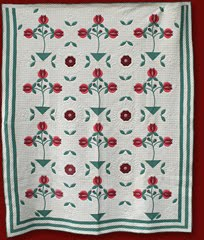 pomegranate applique quilt