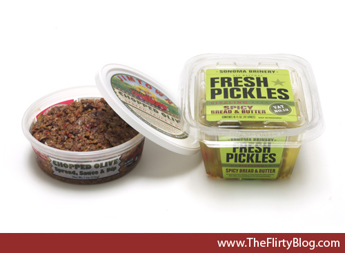 Jimtown Chopped Olive Spead, Sonoma Brinery Pickles