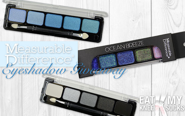 Measurable Difference, a cosmetics line sold in Nordstrom, Walgreens, Beauty.com etc., is currently holding a giveaway contest for their eyeshadow palettes! Enter using my form for your chance to win! - Eat My Knee Socks/Mimchikimchi