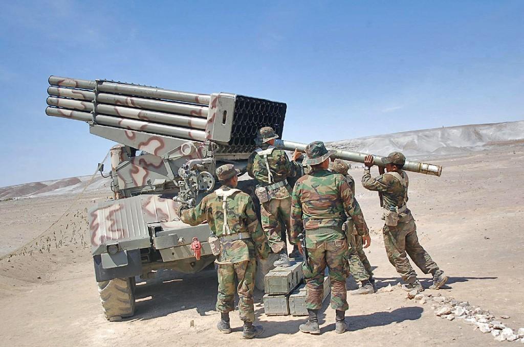 "El Sistema Lanzacohetes Múltiple Autopropulsado BM-21-1 ""Grad"" del Ejército Bolivariano BM-21+%25282%2529"
