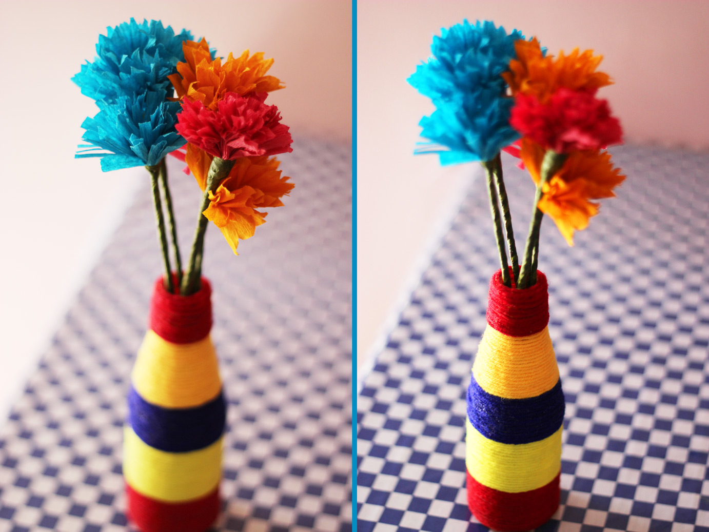 Ingenious mind i have made a colourful vase with cute flowers out of waste materials you can also recycle stuff at home into decorative piece i have mentioned below the reviewsmspy