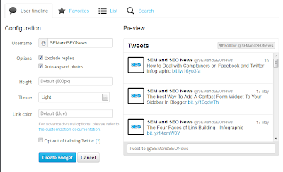 Twitter Feeds Gadget