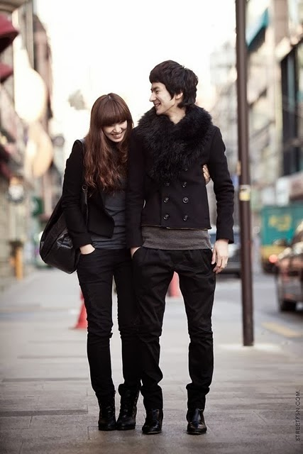 Black Couple Korean Clothe