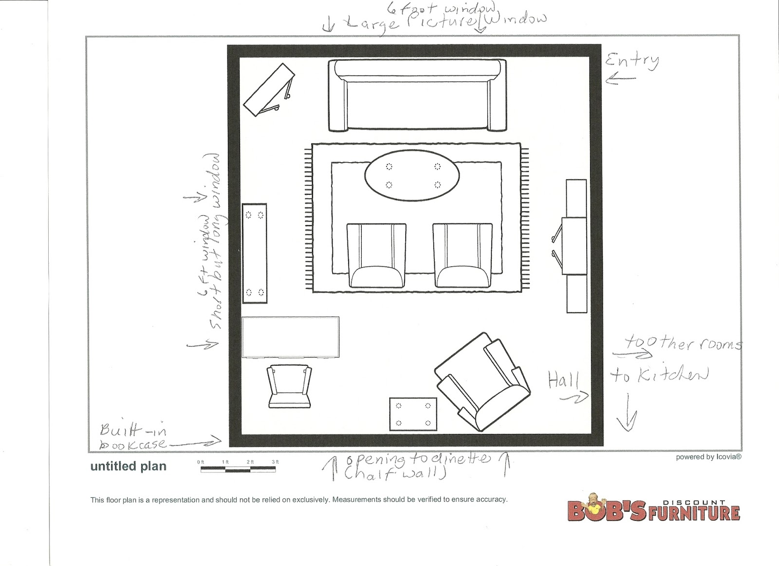 Maison newton redoing the living room 2 the floor plan for Room design blueprint