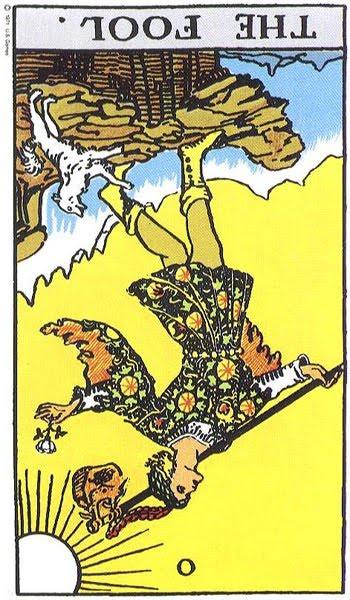 ไพ่เดอะฟูล The Fool กลับหัว ไพ่ทาโร ไพ่ยิปซี ดูดวง พยากรณ์ ความหมายไพ่